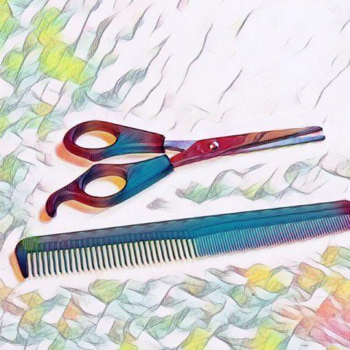 bangs cut natural hair